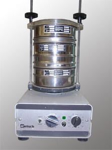 Photo of laboratory sieving tower