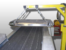 "Photo of a suspension magnet separator ""Silver Arrow"""